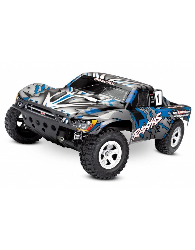 TRAXXAS TRA58024_BLUEX SLASH: 1/10-SCALE 2WD SHORT COURSE RACING TRUCK WITH  TQ 2 4GHZ RADIO SYSTEM