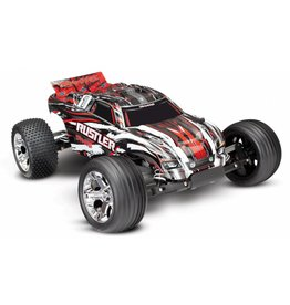 TRAXXAS TRA37054-4-RED RUSTLER: 1/10 SCALE STADIUM TRUCK WITH TQ 2.4 GHZ RADIO SYSTEM