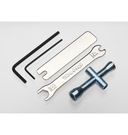 TRAXXAS TRA2748X TOOL SET (1.5MM &2.5MM ALLENS/ 4-WAY LUG, 8MM &4MM WRENCH & U-JOINT WRENCHES)