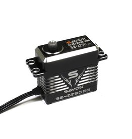 SAVOX SAVSB2290SG MONSTER TORQUE BRUSHLESS BLACK EDITION .13sec / 694.4oz @ 7.4V SERVO