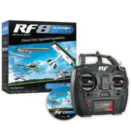 REALFLIGHT RFL1000 REALFLIGHT RF8 HORIZON HOBBY EDITION W/ INTERLINK-X CONTROLLER VERSION