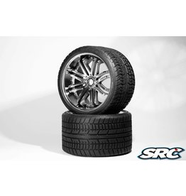 SWEEP RACING SRC0001S ROAD CRUSHER BELTED TIRE SILVER