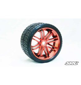 SWEEP RACING SRC0001R ROAD CRUSHER BELTED TIRE RED