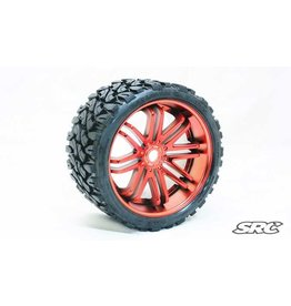 SWEEP RACING SRC0002R TERRAIN CRUSHER BELTED TIRE RED