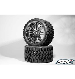 SWEEP RACING SRC0002S TERRAIN CRUSHER BELTED TIRE SILVER