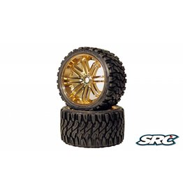 SWEEP RACING SRC0002Z TERRAIN CRUSHER BELTED TIRE GOLD