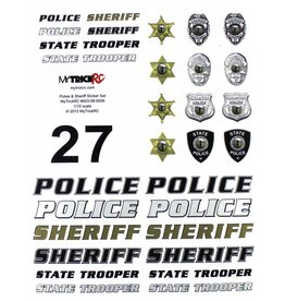 MYTRICKRC MYK-ST3 POLICE & SHERIFF DECAL SET