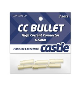CASTLE CREATIONS CSECCBUL653 6.5MM BULLET CONNECTORS
