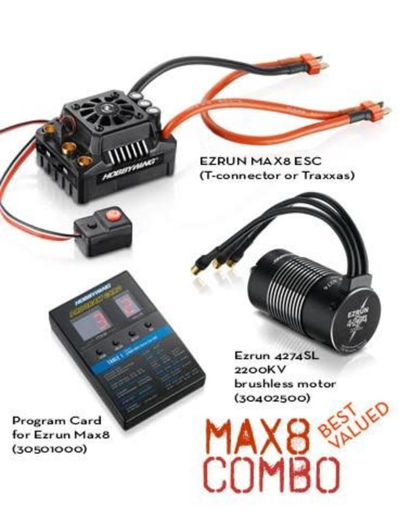 HOBBYWING HWI38010400 MAX8 W/ EZRUN 2200KV COMBO