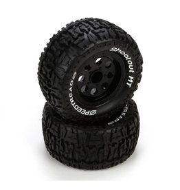 ECX ECX43008 PREMOUNT FRONT & REAR WHEEL AND TIRE