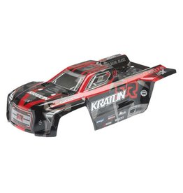 ARRMA AR406078 KRATON 6S PAINTED BODY: RED/BLACK
