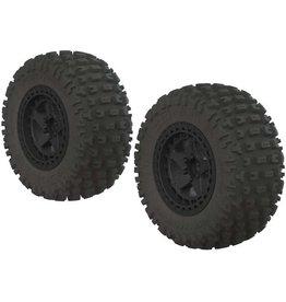 ARRMA AR550042 DBOOTS FORTRESS SC TIRE SET BLACK (2):
