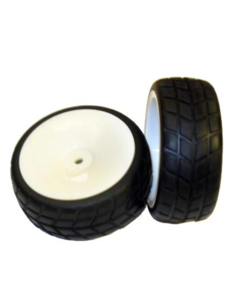 REDCAT RACING 02117W WHITE WHEELS AND TIRES
