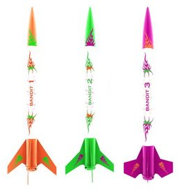 ESTES EST2435 3 BANDITS MODEL ROCKETS KIT, E2X (3 ROCKETS)