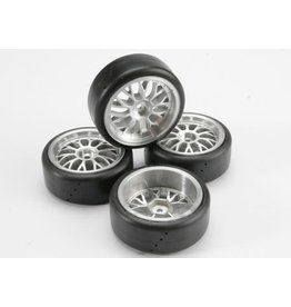 TRAXXAS TRA4873 TIRES, PRO-TRAX ON-ROAD (MEDIUM COMPOUND WITH CONTOURED INSERTS) (MOUNTED AND GLUED TO PART #4872 WHEELS) (2 LEFT, 2 RIGHT)