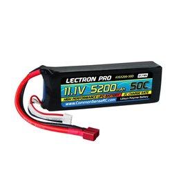 LECTRON PRO LECTRON PRO 3S LIPO 11.1V 5200MAH 50C BATTERY: DEANS