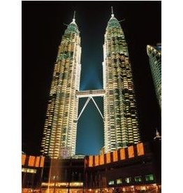 TOMAX TOM50-047 TWIN TOWERS MALAYSIA 500 PCS PUZZLE GLOW IN THE DARK