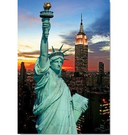 TOMAX TOM100-343 THE STATUE OF LIBERTY NY CITY USA 1000 PCS PUZZLE GLOW IN THE DARK