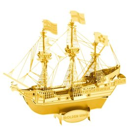 METAL EARTH MMS049G GOLD GOLDEN HIND (2 SHEETS)