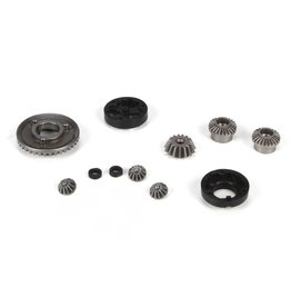 LOSI LOSB1923 FRONT/REAR DIFF GEAR/HOUSING & SPACER SET: MINI 8IGHT