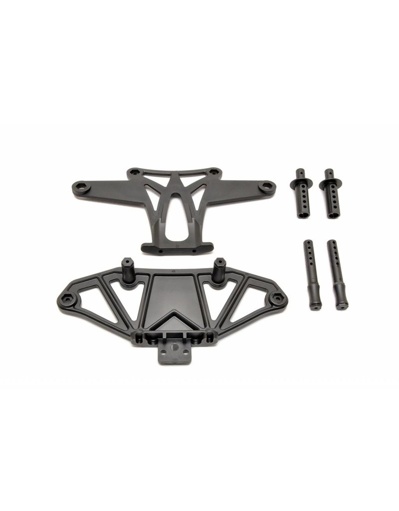 HOBAO RACING HOA85036 HYPER VT FRONT BUMPER SET WITH BODY POST