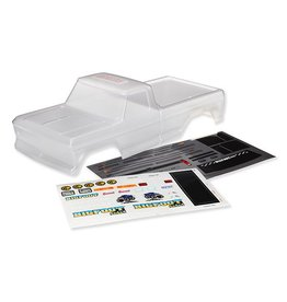 TRAXXAS TRA3660 BODY, BIGFOOT® NO. 1, OFFICIALLY LICENSED REPLICA (CLEAR, REQUIRES PAINTING)/ WINDOW MASKS/ DECAL SHEET