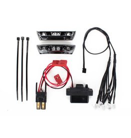 TRAXXAS TRA7185 LED LIGHT KIT, 1/16 E-REVO (INCLUDES POWER SUPPLY, FRONT & REAR BUMPERS, LIGHT HARNESS (4 CLEAR, 4 RED), WIRE TIES)