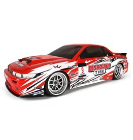 HPI RACING HPI113087 NISSAN S13 DISCOUNT TIRE PAINTED BODY