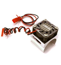 INTEGY INTC23141S 1/16 MOTOR HEATSINK & COOLING FAN: SILVER