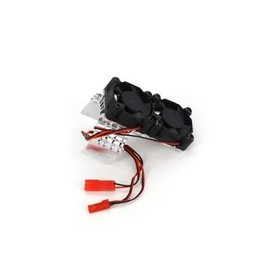 INTEGY INTT8534S MOTOR HEATSINK & TWIN COOLING FAN: SILVER