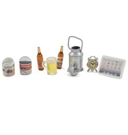 YEAH RACING YA0365 SCALE CAMPING SET W/ BEER BOTTLES