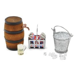 YEAH RACING YA0368 SCALE CAMPING SET W/ ICE BUCKET, COKE, CRATE & BARREL