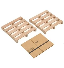 YEAH RACING YA0399 SCALE PALLET W/ BOXES