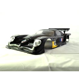 DELTA PLASTIK USA DP7502/2A PANOZ ESPERANTE GTR-1 SPEED RUN BODY: CLEAR