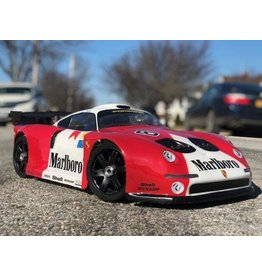 DELTA PLASTIK USA DP7503/2 PORSCHE GT2 360MM SPEED RUN BODY: CLEAR