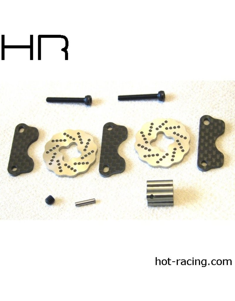 HOT RACING HRASJT39DG CARBON DUAL STEEL WAVE BRAKE, Jato