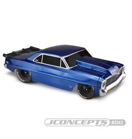 JCONCEPTS JCO0343 1966 CHEVY II NOVA SCT CLEAR BODY