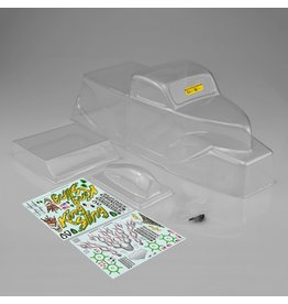 JCONCEPTS JCO0346 KING SLING MEGA TRUCK CLEAR BODY WITH SCOOP & SPOILER