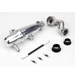 DYNAMITE DYNP5015 1/10 REVO POWER INLINE EXHAUST SYSTEM POLISHED