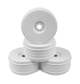 DE RACING DERPSB8W SPEEDLINE PLUS BUGGY WHEELS FOR 1/8 BUGGY: WHITE (4)