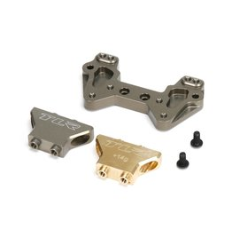 TLR TLR334019 ALUMINUM REAR CAMBER TOWER BRASS AND ALUMINUM: 22/2.0/T/SCT