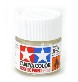 TAMIYA TAM81502 ACRYLIC MINI X2, WHITE