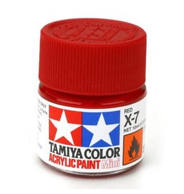 TAMIYA TAM81507 ACRYLIC MINI X7, RED