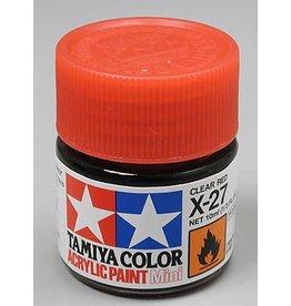 TAMIYA TAM81527 ACRYLIC MINI X27, CLEAR RED