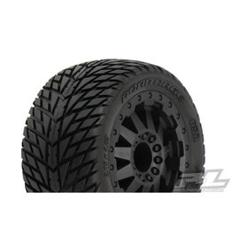 PROLINE RACING PRO117214 ROAD RAGE 2.8 TRA BEAD MOUNEDT F11 BLACK WHEEL(2): NRU NST