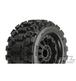 PROLINE RACING PRO1012515 BADLANDS MX28 2.8, MOUNTED F-11 BLACK WHEEL(2): R EST,EST