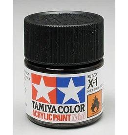 TAMIYA TAM81501 ACRYLIC MINI X1, BLACK