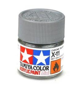 TAMIYA TAM81511 ACRYLIC MINI X11, CHROME SILVER