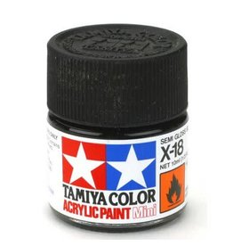 TAMIYA TAM81518 ACRYLIC MINI X18, SEMI GLOSS BLACK