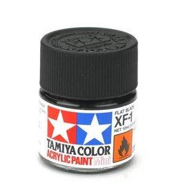 TAMIYA TAM81701 ACRYLIC MINI XF1, FLAT BLACK